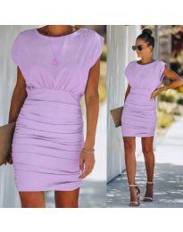 Елегантна рокля в лилаво - код 1158