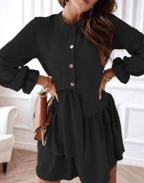 Атрактивна дамска рокля в черно - код 2829