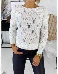 Дамска пуловер в бяло - код 392