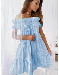Свободна рокля в светло синьо - код 0299