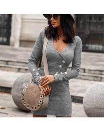 Дамска рокля в сиво - код 4516