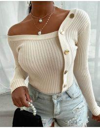 Атрактивна дамска блуза в бяло - код 1488