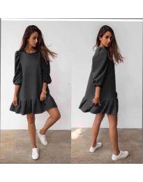 Свободна дамска рокля в черно - код 784