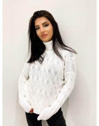 Дамски пуловер в бяло - код 4172