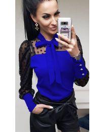 Елегантна блуза в синьо - код 7262