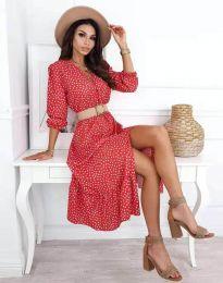 Атрактивна дамска рокля с флорален десен - код 8234 - 4