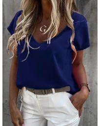 Дамска тениска в тъмно синьо - код 0589