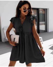 Свободна рокля в черно - код 2093