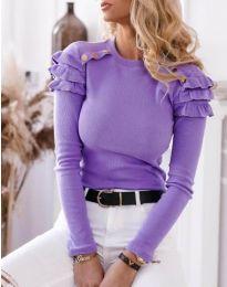 Дамска блуза в лилаво - код 1645
