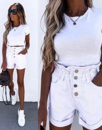 Къси панталонки в бяло - код 5301