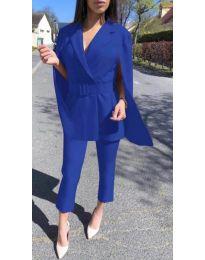 Елегантен дамски комплект в синьо - код 867