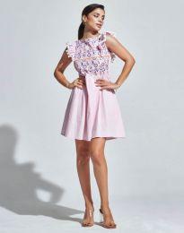 Кокетна рокля в розово - код 1482