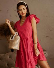 Дамска рокля в цвят циклама - код 6224