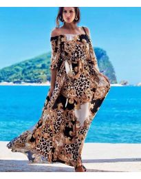 Дълга ефирна рокля - код 6599 - 1