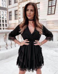 Атрактивна дамска рокля в черно - код 0545
