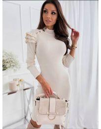 Дамска рокля в бяло - код 2915