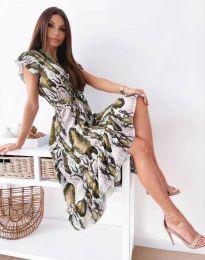 Дамска рокля с атрактивен десен - код 6747 - 5