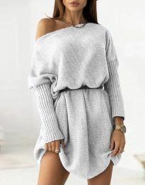 Дамска рокля в сиво - код 6940