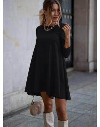 Свободна рокля в черно - код 371