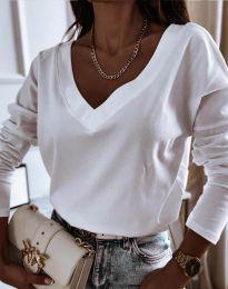 Атрактивна дамска блуза в бяло - код 12061