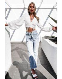 Дамска блуза в бяло - код 864