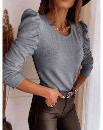 Дамска блуза в сиво - код 9556