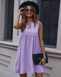 Свободна рокля в светлолилаво - код 0286