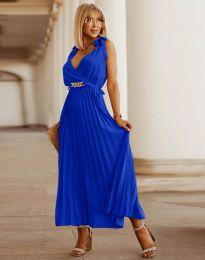 Елегантна дамска рокля в тъмносиньо - код 5290