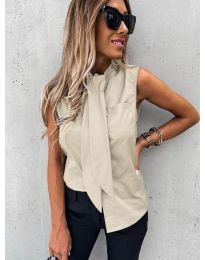 Елегантна дамска риза в бежово - код 5531