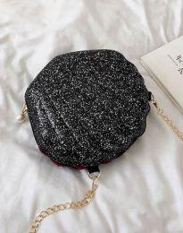 Дамска чанта в блестящо и матово черно - код B412