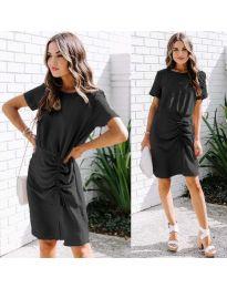 Изчистена рокля в цвят черно - код 835