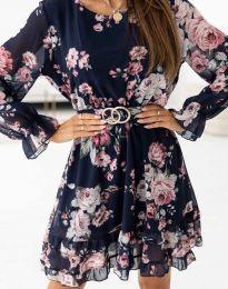 Дамска рокля с флорален десен - код 0946 - 1
