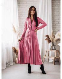 Елегантна рокля в розово - код 1544