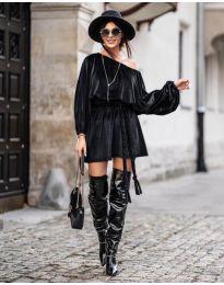 Свободна рокля в черно - код 324