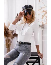 Дамска блуза в бяло - код 9792