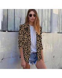 Спортно-елегантно дамска сако с леопардов десен - код 051
