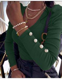 Дамска блуза в тъмнозелено - код 2065