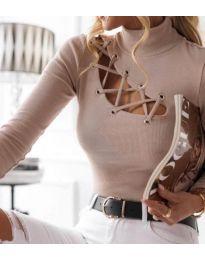 Дамска блуза в бежово - код 11489