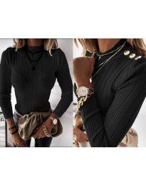 Дамска блуза в черно - код 9930