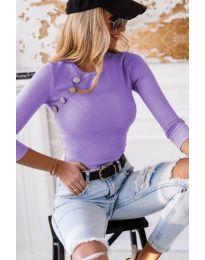 Атрактивна дамска блуза в лилаво - код 3151