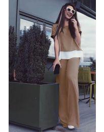 Дамски комплект в цвят капучино - код 5044