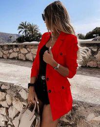 Елегантно дамско сако в червено - код 1678