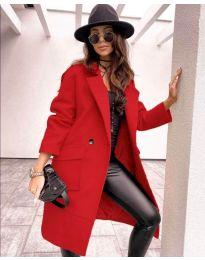 Дамско палто в червено - код 7278