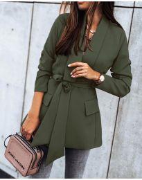 Елегантно дамско сако в маслено зелено - код 1980