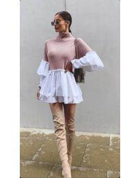 Дамска рокля в розово - код 1188