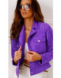 Дамско късо яке в лилаво - код 9461