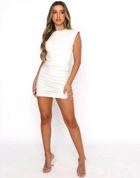 Атрактивна дамска рокля в бяло - код 11985