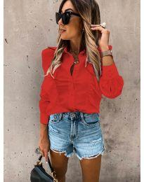Дамска риза в червено - код 872