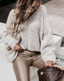 Дамски пуловер в сиво - код 0866
