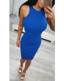 Изчистена рокля по тялото в синьо - код 2623